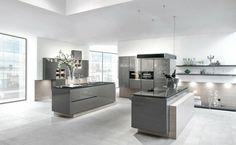 cuisine moderne laquée en gris