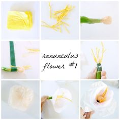 DIY Ranunculus Flowers - Up to Date Interiors
