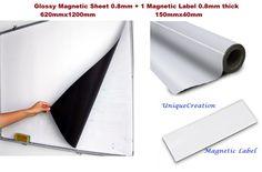 Flexible rubber material impregnated with ferrous iron powder, which has then been magnetised. - White glossy PVC coating, suitable to write on with whiteboard or permanent markers. Clothespin Art, Rubber Material, Permanent Marker, Whiteboard, Markers, Flexibility, Sydney, Garland, Adhesive