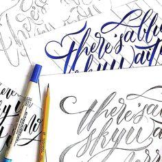 4 Drafts - pencil  brush pen  pencil again  and fine liner.  #lettering #handlettering #oceanchelle  #script #ZigBrushables #Mongol #lyrics #script by oceanchelle