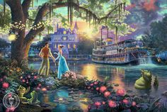 Disney Oil Paintings Thomas Kinkade The Princess by ThomasArtwork, $30.00
