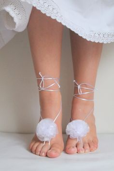 Ivory bridal sandals bridasmaid sandals reayt to by semajewelry, $19.90