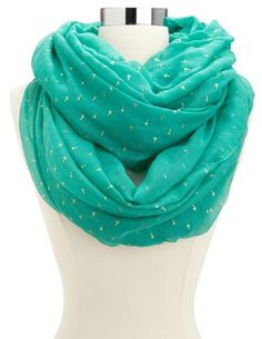 Foiled Cross Infinity Scarf: Charlotte Russe