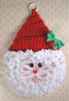 Maggie's Crochet · Santa Wall Hanging Crochet Pattern