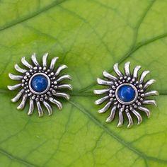 Silver Pendant Necklace, Silver Hoop Earrings, Silver Jewelry, Vintage Earrings, Gemstone Jewelry, Silver Ring, Jewelry Sites, Lapis Lazuli Earrings, Mexican Jewelry