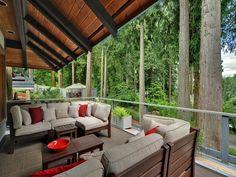 Modern Porch with Wrap around porch, Screened porch, Gazebo