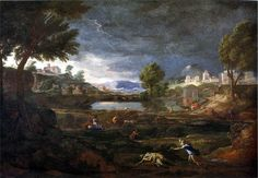 Nicolas Poussin - Landscape During a Thunderstorm with Pyramus and Thisbe