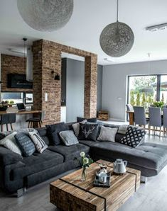 48 Simple Contemporary Home Decor Ideas Mid Century Modern Living Room Contemporary decor Home ideas simple Modern Home Interior Design, Contemporary Home Decor, Interior Exterior, Modern House Design, Room Interior, Modern Decor, Contemporary Design, Modern Couch, Modern Lamps