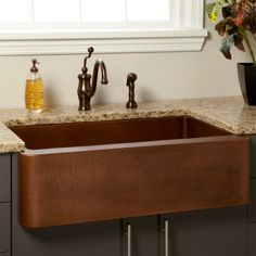 Farmhouse Sink With Divider : Sinks, Copper sinks and Kitchen sinks on Pinterest