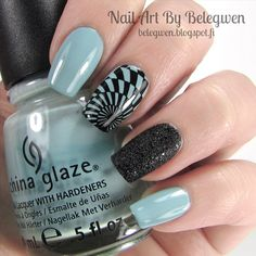 Nail Art by Belegwen: China Glaze Kinetic Candy and OPI Emotions