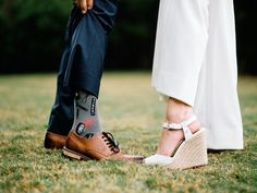 Bride and groom wedding shoe photography + fun groom socks idea  {Mercedes Morgan Photography}