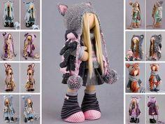 Cat doll Tilda doll Interior doll Art doll Grey doll Nursery doll Textile doll Soft doll Cloth doll Fabric doll Baby doll by Master Alena R __________________________________________________________________________________________ Hello, dear visitors! This is handmade soft doll