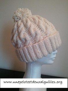 Tricoter un bonnet large adulte unisexe Free Knitting, Knitting Patterns, Crochet Patterns, Knitting Ideas, Knitted Hats, Crochet Hats, Thick Yarn, Beautiful Crochet, Diy Crochet