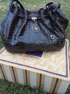Brighton Belclaire Brown Croc Handbag #Brighton #Handbag
