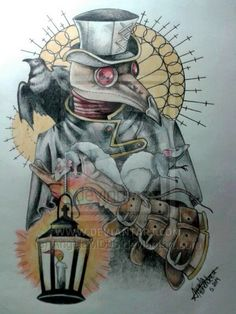 plague doctor tattoo - Buscar con Google