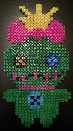 Scrump Perler Bead - Made with love Melty Bead Patterns, Pearler Bead Patterns, Perler Patterns, Beading Patterns, Perler Bead Templates, Diy Perler Beads, Perler Bead Art, Pixel Art, Perler Bead Disney