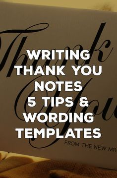 Thank You cards have a little bit of a reputation for being painful. As one of the last bits of wedding admin, the budget and your patience for yet another etiquette must-do can be wearing a little thin. So here's a few tips to make writing thank you cards a whole lot less painful http://www.bemyguest.co.nz/thank-you-cards-5-top-tips-and-wording-ideas/