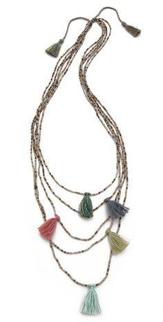 serefina Beaded Tassel Necklace | SHOPBOP