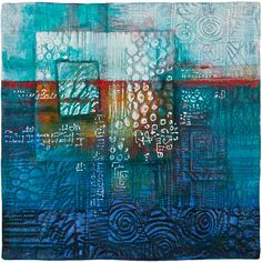"""This quilt is called """"Composition XIII"""", made by Deidre Adams Art Fibres Textiles, Textile Fiber Art, Fabric Painting, Fabric Art, Inspiration Art, Contemporary Quilts, Traditional Quilts, Mix Media, Collage Art"""