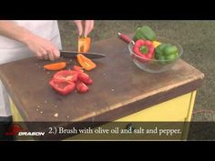 The boys at BBQ Dragon are back with another episode of BBQ Fresh. This time they will show you how to grill up Peppers. They throw them on the charcoal gril. Grilled Peppers, Vegetarian Grilling, Charcoal Grill, Royce, Bbq, Exotic, Dragon, Stuffed Peppers, Fresh