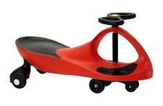 Plasmart Plasmacar Red Ride On Car by Plasmart. $53.03. No pedals, gears or batteries needed it is purely energized by fun and kid-power. The innovative award winning Plasmacar simply moves by continuously steering from left to right, allowing your kid to go to a speed of up to 2.8 m,sec, which is over 6mph. It is so much fun you want to try it.  Features:   Made of high quality ABS plastic  Sleek design  Great exercise indoor and outdoor  Goes up to a speed of a ki...