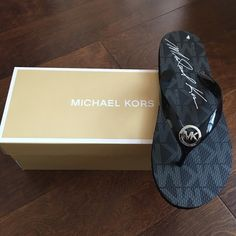 Michael kors flip flops Brand new pair of flip flops with box . Michael Kors Shoes Slippers