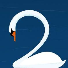 2 @36daysoftype  #36daysoftype #36daysoftype06  #36days_adobe  #36days_2 . . . #swan#jezovic #illustration#vectorart #adobe… 36 Days Of Type, Swan, Adobe, Symbols, Illustration, Instagram, Swans, Cob Loaf, Illustrations