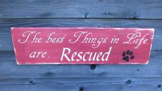 Hand painted wood dog sign, dog rescue sign, primitive rustic wood home décor…