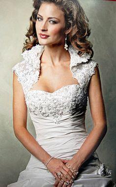 bridal bolero dress