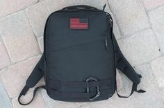 GORuck Radio Ruck ----   My primary backpack. And carries my full A + B edc loadout. I have other backpacks and they have there purposes, but this backpack is on my back day-to-day and most trips. ----- 1000D Cordura, silent parachute 550 cord zipper pulls, made in USA YKK zippers, and a 2″x3″ Velcro for you to affix the patch of your choice. Military-grade buckles and military grade-webbing.