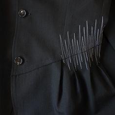 Tricot Comme des Garcons 1992 repair stitch suit – FILTER STORE