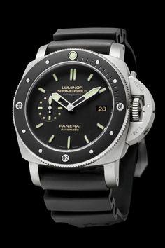 Officine #Panerai - Luminor Submersible 1950 Amagnetic 3 Days Automatic Titanio - 47mm