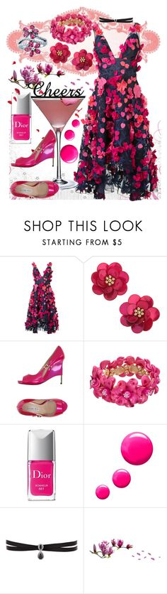 """""""Cheers"""" by marie-dancin-in-the-moonlight ❤ liked on Polyvore featuring Notte by Marchesa, Pink Martini, Miss Selfridge, Luciano Padovan, Christian Dior, Topshop and Fallon"""