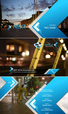Arrows Broadcast Package by Perry Cox, via Behance Interface Web, Interface Design, Banner Design, Layout Design, Design Design, Logo Inspiration, Design Sites, Template Web, Channel Branding