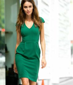 H Green Cap Sleeve Dress -- to wear with tights and boots for New Years Eve in London?