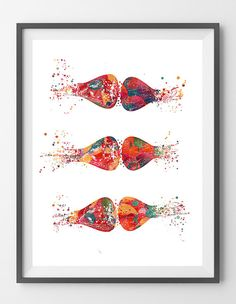 Synapses watercolor print neurology art by MimiPrints on Etsy