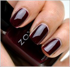 Zoya Nail Polish in Stacy from the Wonderful Collection. A good choice when looking for a deep oxblood nail polish cream shade. Swatch by Temptalia. http://www.artofbeauty.com/content/38/item/Zoya/Zoya-Nail-Polish-Stacy.html