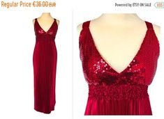 4th JULY SALE 90s Blood Red Pleated Satin Long Sequin Party Dress, Prom Dress, Christmas Party Dress, St Valentine's Day Dress, Evening Disc by HolyCatsVintage on Etsy Sequin Party Dress, Dress Prom, Prom Dresses, Formal Dresses, Valentines Day Dresses, Red White Blue, Pleated Skirt, Outfit Of The Day, Blood
