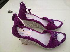 sandalias de plataforma en crochet - Buscar con Google