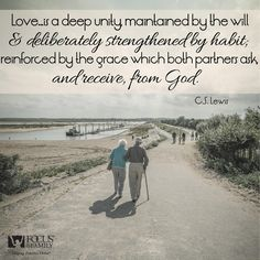 """Love isn't something you """"fall into"""". Love in a marriage is something that takes a lot of work on both parts and a lot of grace/mercy/blessing from God."""