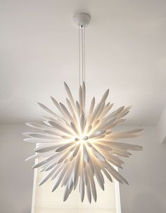 Modern Chandeliers | Contemporary Lighting, Modern Lighting Fixtures, Bespoken contemporary chandeliers, something comforting about this chandelier, yet it's fresh and contemporary.  Now to figure out who makes it.