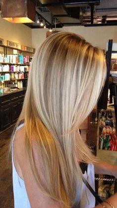 balayage long blonde hair #WomenHairColorBlonde