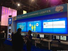 Inside the Social Media Command Center at CES Community Manager, Trending Topics, Digital Media, Social Media, This Or That Questions, Centre, Command Centers, Mcdonalds, Labs