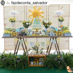 #Reposting @fazdeconta_salvador with @instarepost_app -- Essa foi a festa Sol de Benício. Obrigada @thanacarvalho pela confiança e pela oportunidade de fazer uma festa linda, leve e solta....como vcs!!!  #festasol  #festamenino  #mysunshine