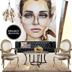 Edgy Glamour Set 2 by szaboesz on Polyvore featuring interior, interiors, interior design, home, home decor, interior decorating, Driade, Kylie Minogue, Balmain and Gus* Modern