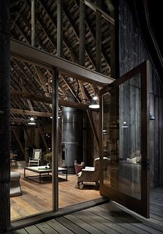 The Ultimate Loft Living Space. Gorgeous but not very realistic. What of the (lack of) insulation?