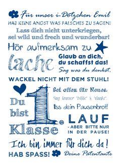 Botschaft ans Schulkind - ein tolles Geschenk!