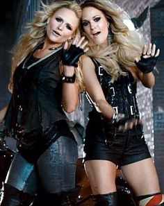 Miranda Lambert, Carrie Underwood in Somethin' Bad Video: Crazy-Sexy L - Us Weekly. So badass Country Music Artists, Country Music Stars, Country Singers, Country Lyrics, Miranda Lambert, Leigh Lambert, Carrie Underwood, Bad Video, Before Us