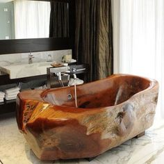 So cool we had to post it again. #wooden #bathtub #inspiration