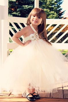 Blush Pink Country Couture Flower Girl Tutu Dress/ Shabby Chic Wedding/ Rustic Wedding/ Country Wedding